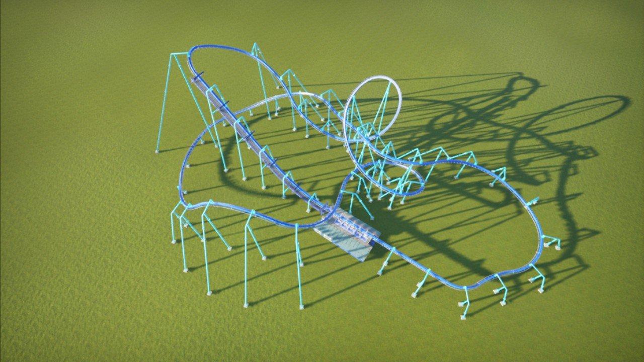 Unthemed stingray coaster
