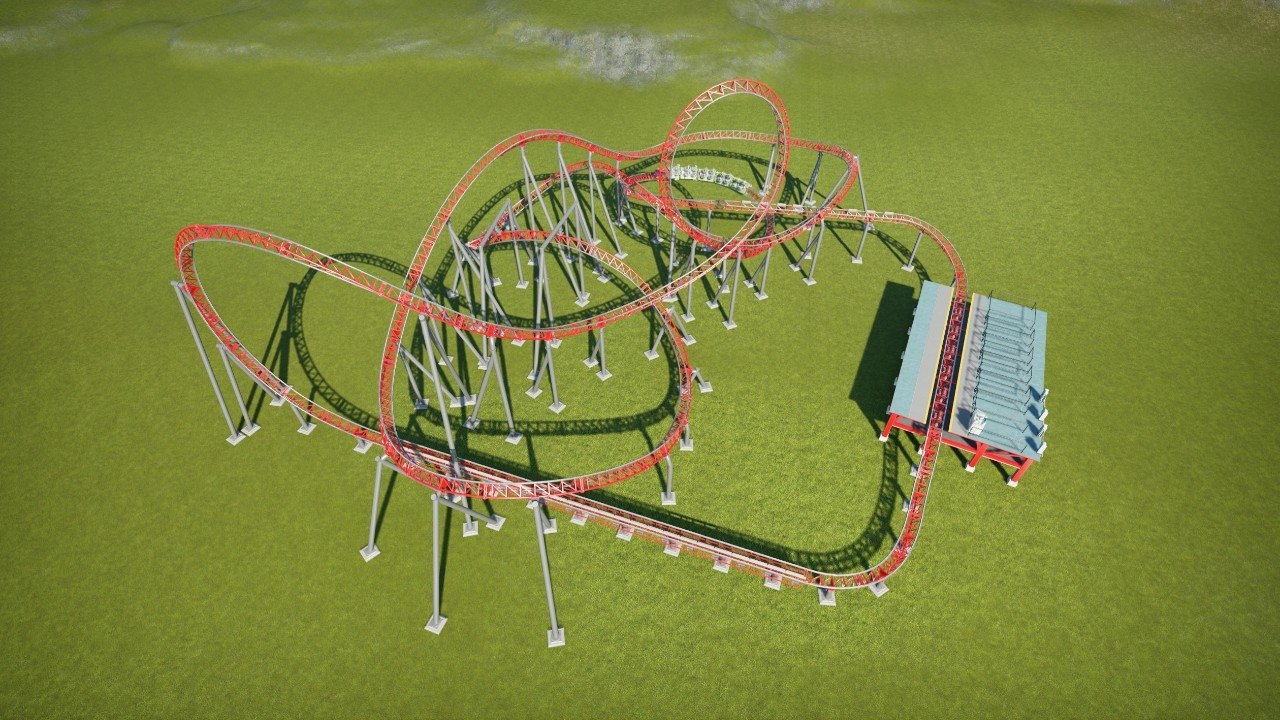 Compact inverting coaster